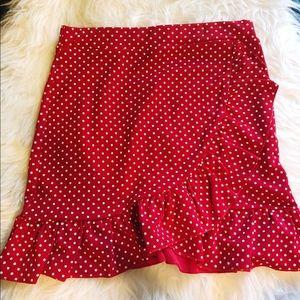 ASOS polka dot mini skirt.